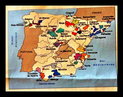 Wines from Spain map