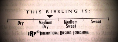Riesling dryness chart