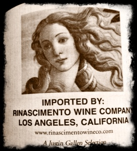 Rinascimento rear label