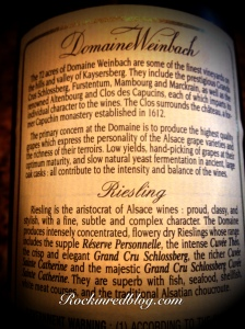Domaine Weinbah rear label