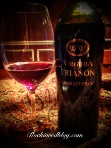 VA Williamsburg Winery Tianon Cab Franc