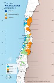 Wines of Chile map