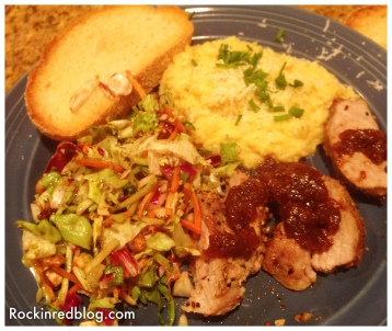 Claiborne and Churchill Pork dinner