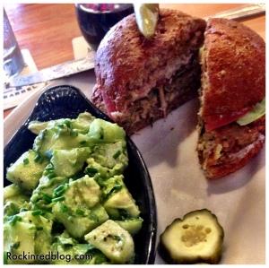 Rustic veggie burger