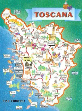 Tuscany - map