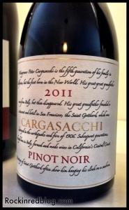 Loring Cargasacchi 2011 Pinot Noir