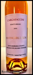 Loring Cargasacchi Invincible Sun 2010 Late Harvest PG