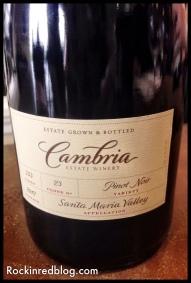 Cambria clone 23 Pinot Noir