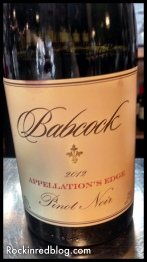 Babcock Appellations Edge Pinot Noir