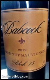 Babcock Cabernet Sauvignon