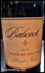 Babcock Slice of Heaven Pinot Noir