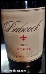 Babcock Syrah