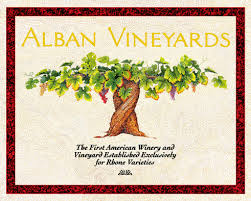 Alban Vineyards logo