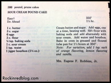 Cargasacchi pound cake recipe