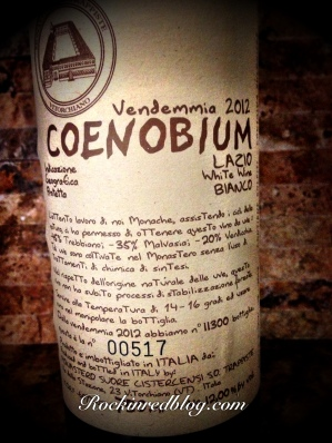 July ItalianFWT Coenobium lable close up