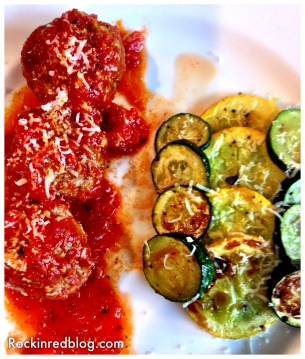 Campania Meatballs and roasted squash