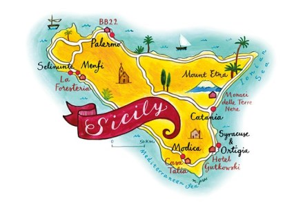 Donnafugata summer map of sicily via taher