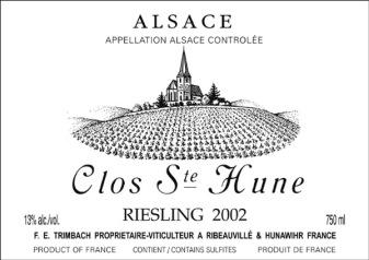 Trimbach Clos Ste Hune label