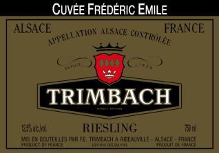 Trimbach Cuvee Frederic Emile label