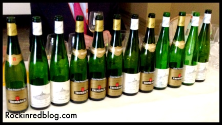 Trimbach tasting line up