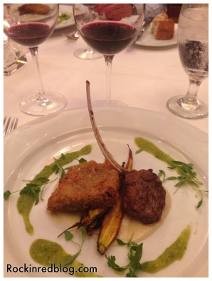 achaval ferrer third course with wine