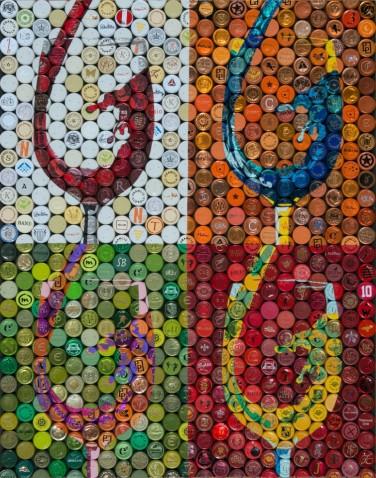 Vino Mosaics Pop Art