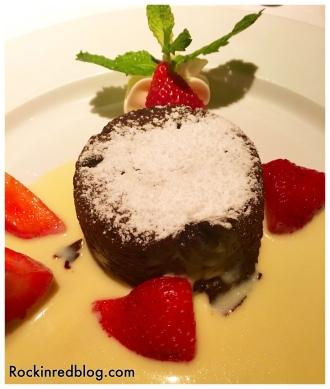 Bordeaux flourless choc cake yum