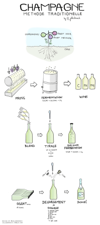 Champagne Traditional Method via winefolly