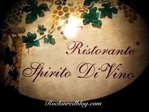 Eating Italy Spirito Di Vino sign