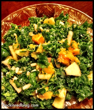 Lodi Thanskgiving kale salad
