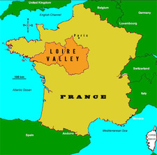 Loire Valley France Map loire valley wine region france map via kateuncorked – ROCKIN RED BLOG