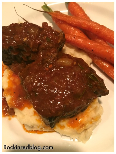 Braised beef short ribs dinner2