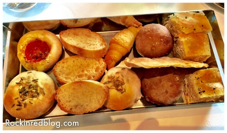 Lunch began with a homemade assortment of breads