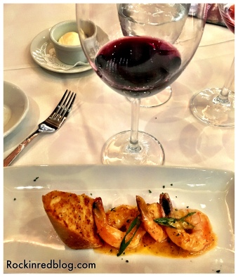 Who would have thought bbq shrimp with a Portuguese red blend? Kudos to the Ruth's Chris chef for this winning combo!