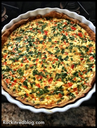 Crab and Gruyere Quiche