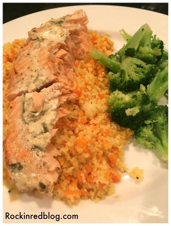 roasted salmon dinner