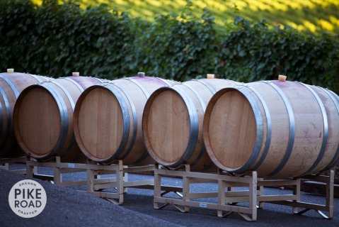 Pike Road Wines barrels