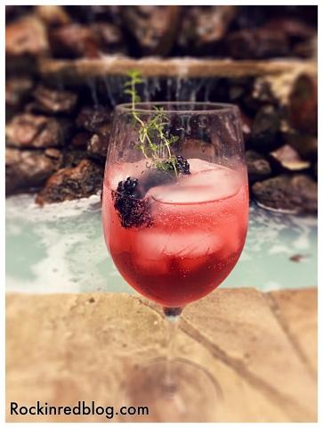 Barefoot Citrus Blackberry cocktail