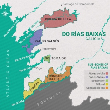 Winestudio Rias Baixas map