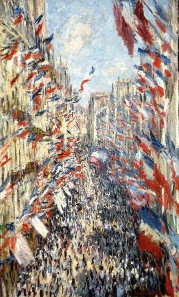 Bastille Day Celebration by Claude Monet