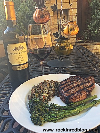 Cahors malbec pork chop dinner
