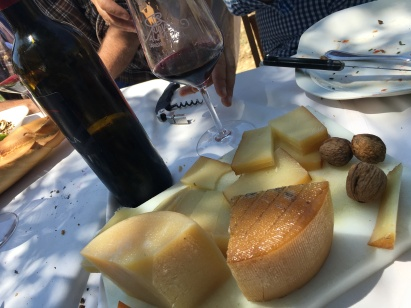 cheese and Rioja Alavesa