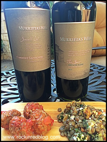 both reds paired well with meatballs and lentil salad