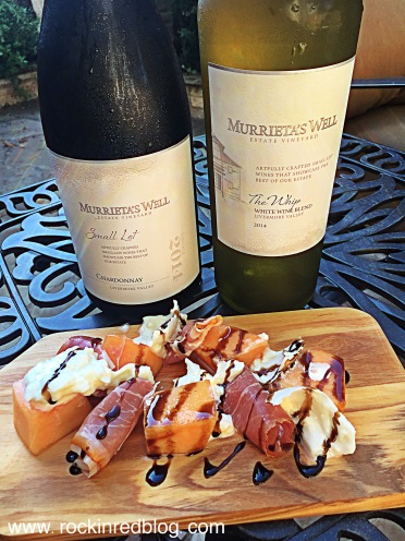 both of the whites paired deliciously with the jamon, burata, & melon