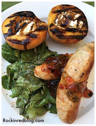 donnafugata dinner sausage peaches
