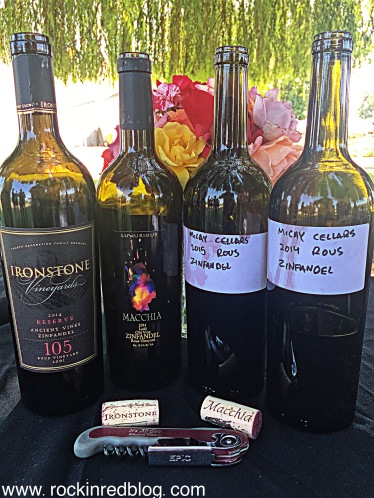 The Rous Vineyard is another famous Lodi Old Vine Zinfandel Vineyard. What a treat to sample four different expressions of Rous Vineyard Zinfandel from Ironstone, Macchia, and McCay wineries.