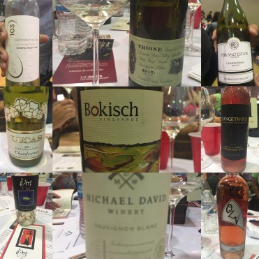 Speed tasting Lodi white wines