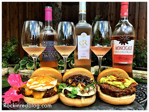 Provencal wines and burgers