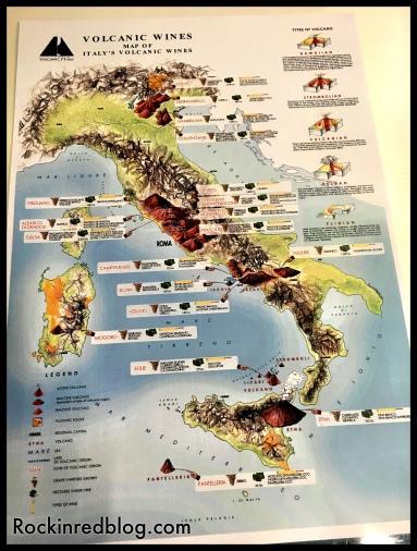 Italian volcanic wine map via Consorzio di Tutela Soave