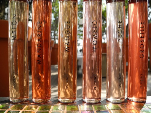 Wines of Provence Rose color chart